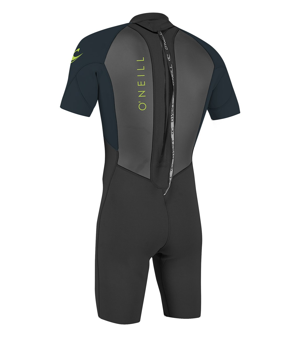 O'Neill Youth Reactor-2 2mm Back Zip Short Sleeve Spring Wetsuit, Black/Slate, 6 by O'Neill Wetsuits (Image #2)