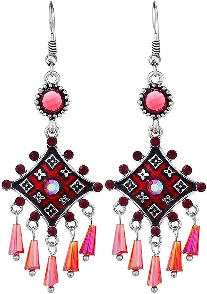 Femmes Vintage Bohème Boho Style Metal Tassel Drop Dangle Crochet Boucles D/'oreilles Bijoux