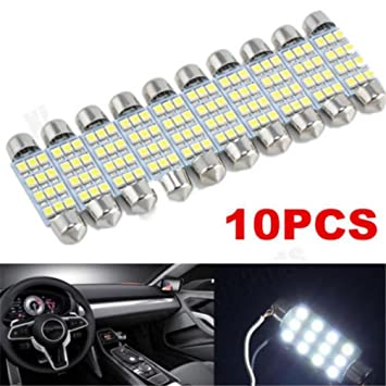 Atv,rv,boat & Other Vehicle 10x 3528 12 Smd Led Auto Car Interior Festoon Dome Bulbs Lamp Light Dc 12v 41mm