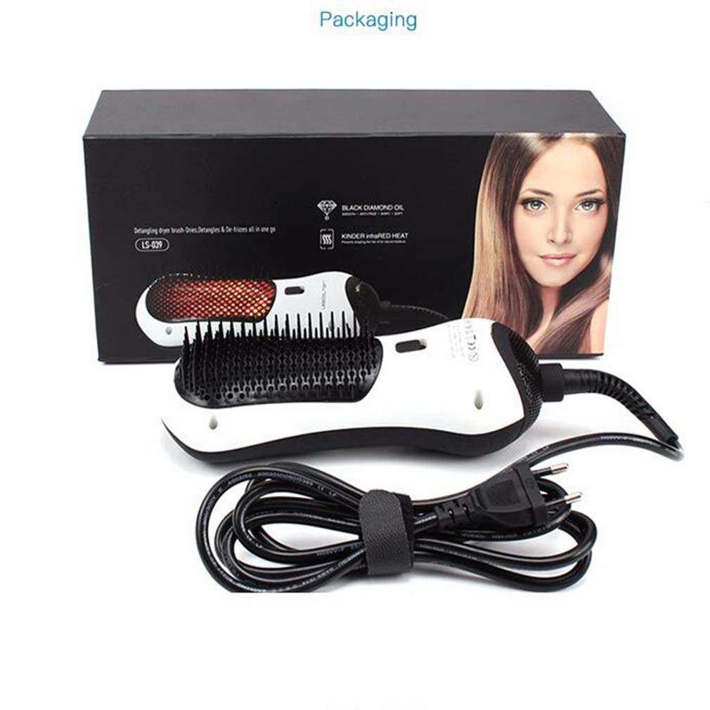 MTXLN One Step Hair Dryer & Infrared hot air Comb |Multifunction Styler Hot Air Paddle Brush |Mini Hair Dryer for All Hair Types | EliminateFrizzing, Tangled Hair & Knots(White) by MTXLN (Image #7)
