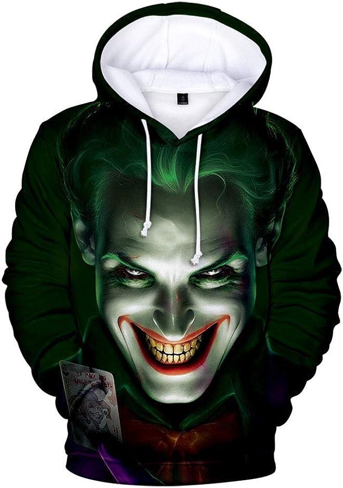 Unisex Kids 3D Hoodie Supervillain Returns to Life Long Sleeve Pullover Sweatshirt Front Pocket for Men Women