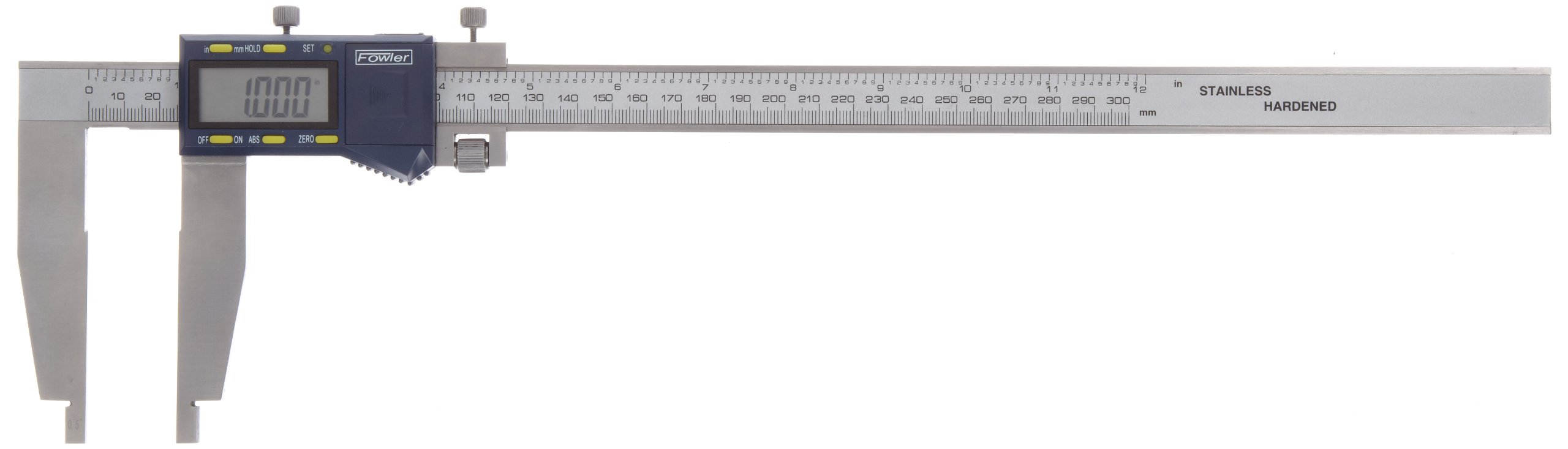 Fowler Full 2 year warranty Xtra-Range Electronic Caliper, 54-100-312, 0-12'' Measuring Range, 0.0005'' Resolution
