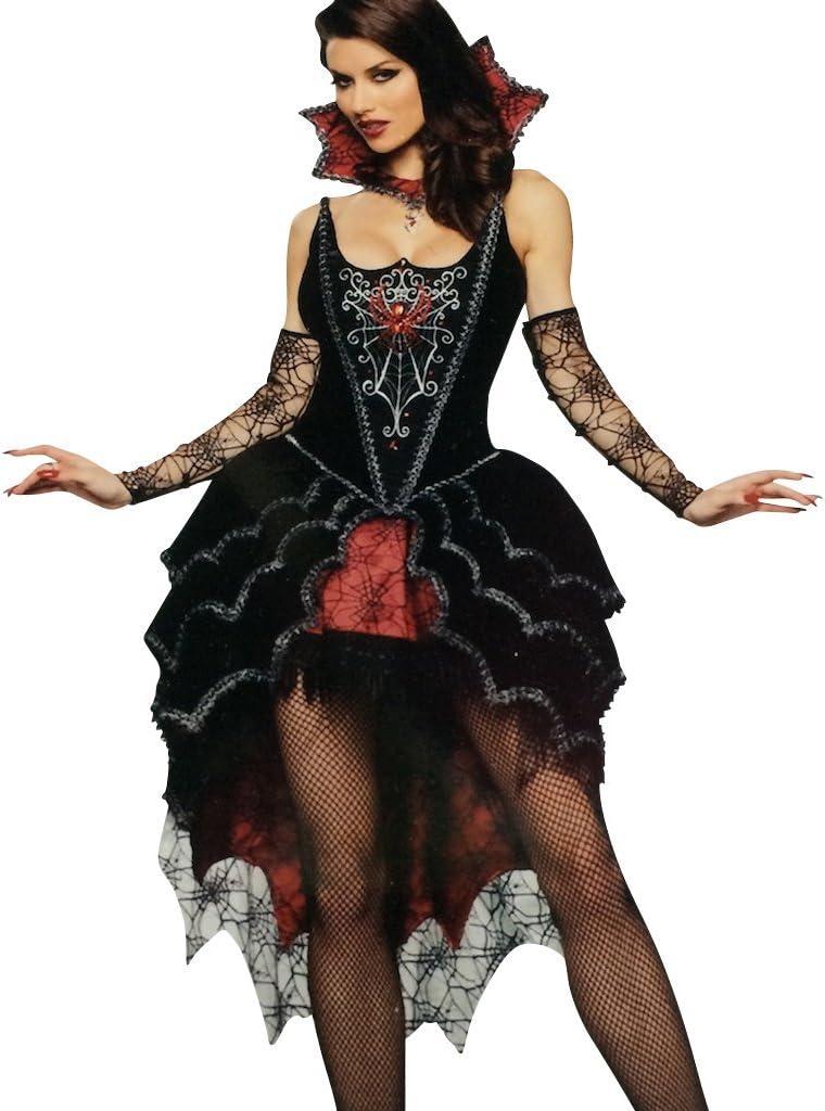 LIFE IS GOOD Disfraz Bruja Reina Maléfica Mujer Araña - 5 Piezas ...