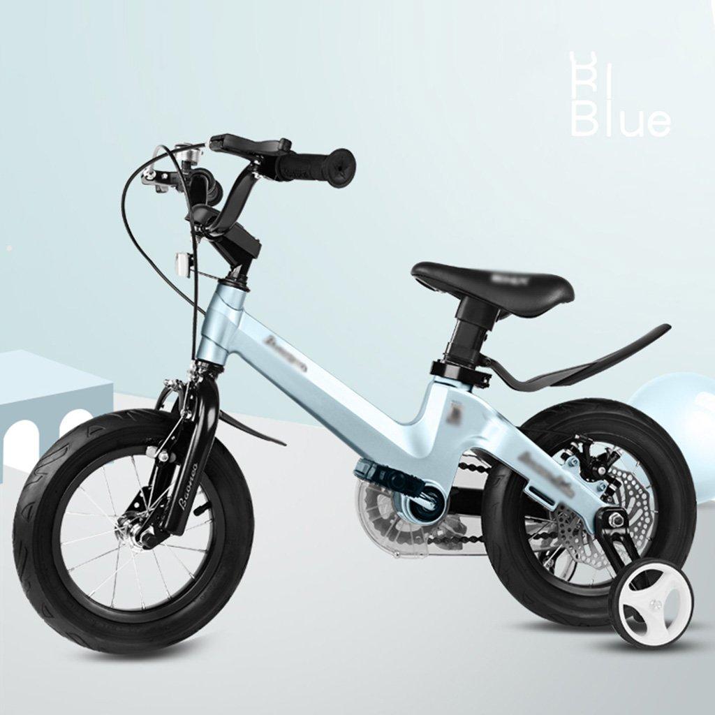 キッズ自転車 2~10歳 ベビーマグネシウム合金フレーム 自転車 男の子 女の子 ベビーキャリッジ 12インチ 14インチ 16インチ 自転車アクセサリー 16 inches ブルー B07JRF4KH4 16 inches ブルー ブルー 16 inches
