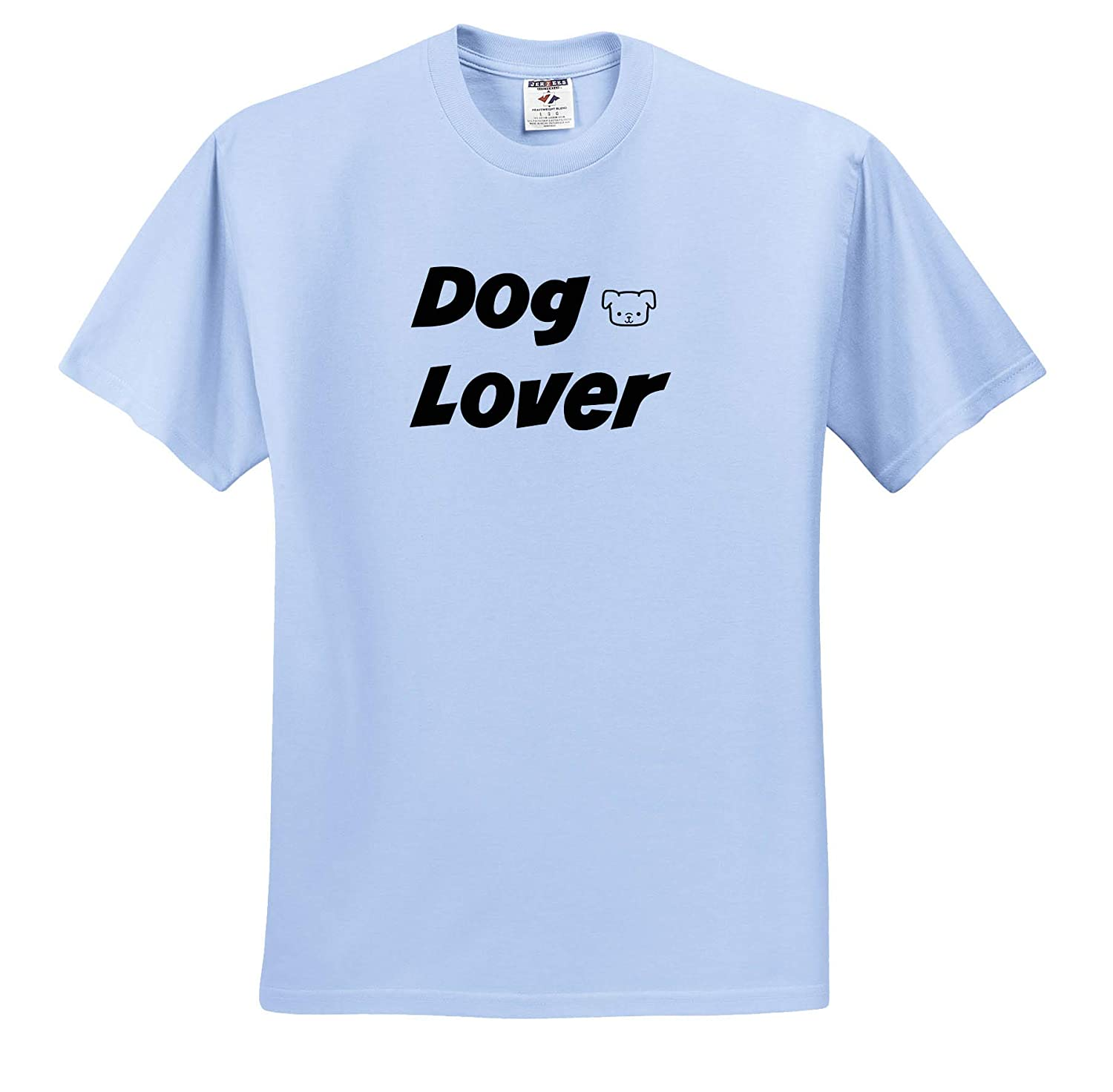 3dRose Gabriella-Quote ts/_319498 Adult T-Shirt XL Image of Dog Lover Quote