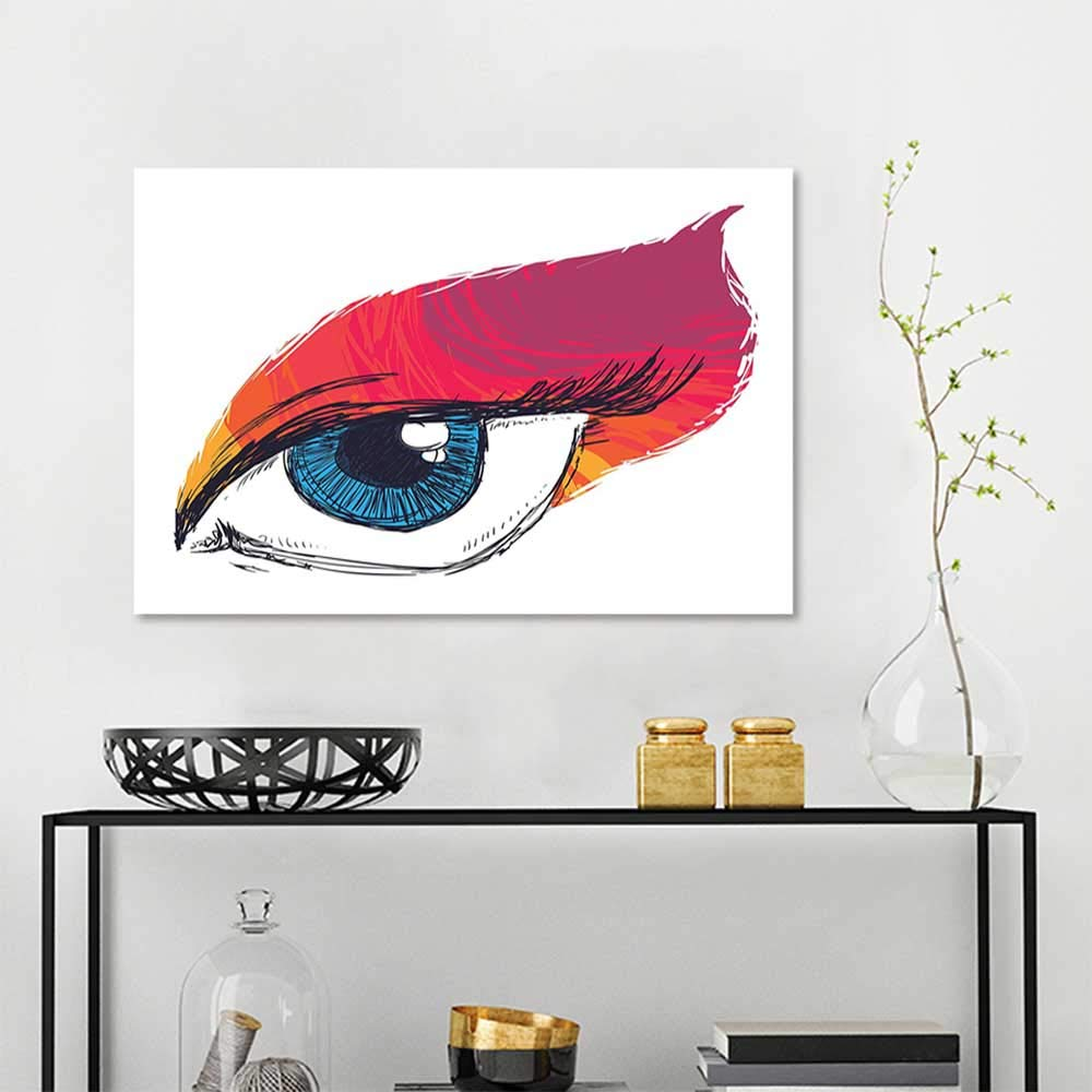 Amazon Com Wall Painting Prints Eye Simple Sketch Art Of A Single