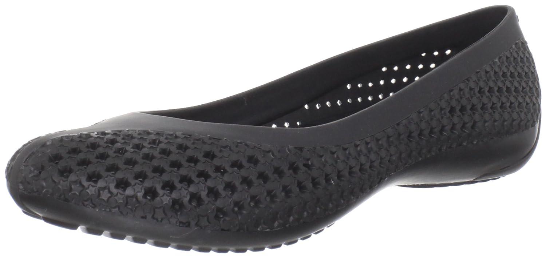 01f649c8c Crocs womens crosmesh flat black ballet uk shoes bags jpg 1500x710 Crocs  ballet flats