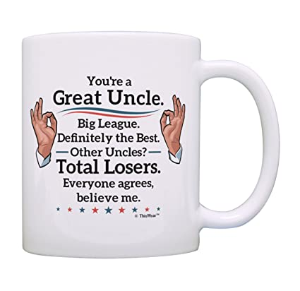 Best Uncle Gifts Great Big League Definitely Mug Fathers Day Humorous Birthday For