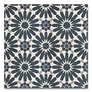 Moroccan mosaic tile house ctp54 03 alhambra 8 39 39 x8 for Handmade cement tiles