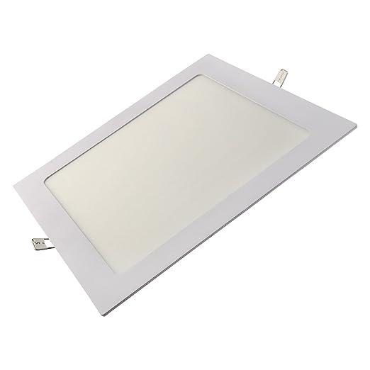Lexton Lex-18W-S-1Y-A 18-Watt LED Panel Light (White, Square)