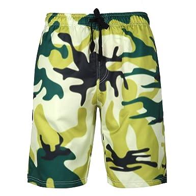 0b5c56ce39fcc LMRYJQ Short De Bains Homme Maillot De Bain Pants Pantalons De Plage De  Sports Loisirs Respirant Bermuda Pant ÉTé Surf Shorts pour 、 PlongéE:  Amazon.fr: ...