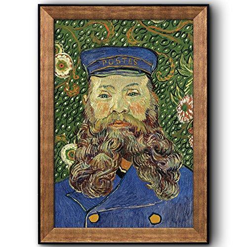 Portrait Of The Postman Joseph Roulin V by Vincent Van Gogh Oil Painting Impressionist Artist Framed Art