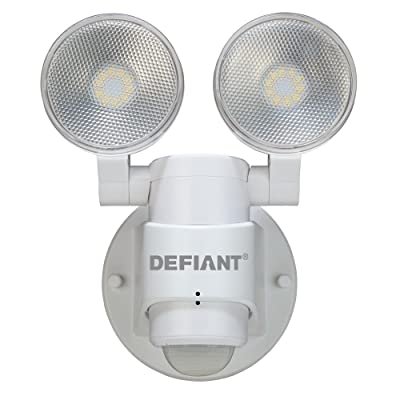 LED Motion Sensor Security Light By Defiant   180 Degree 180 Degree 2-Head White Outdoor Weatherproof Spot Lights   Bright Lumens  Tool-less Lamp Adjustments: Musical Instruments