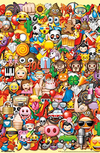 Trends International Emoji Collage Wall Poster 22.375