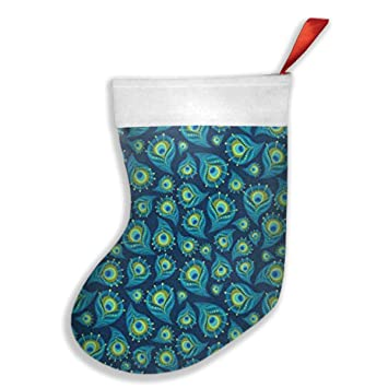 wuoc the paisley peacock christmas stockings felt christmas decorations for mantle xmas stocking santa snowman reindeer