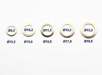 10 Fitschenringe Außen Ø13,2 mm Innen Ø9,2 mm Unterlegscheibe Türen Scheibe Tür