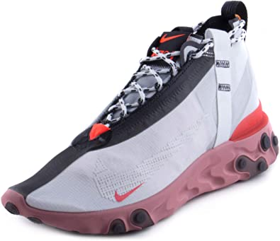 Escarpado incidente sector  Amazon.com | Nike Mens React Runner Mid WR ISPA Summit White/Off White  Synthetic | Road Running