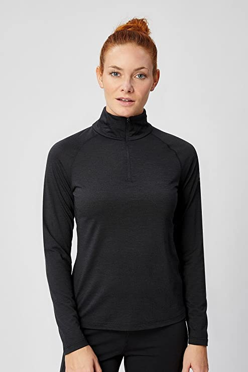 df1c52c772da5 Supernatural Women s W BASE 1 4 ZIP 175 Long Sleeves With High Neck  Functional Shirt  Amazon.co.uk  Sports   Outdoors