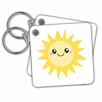 Amazon.com: Cute Happy Sun – kawaii amarillo Sunny Happy ...