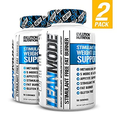 Evlution Nutrition Lean Mode Stimulant-Free Weight Loss Support with Garcinia Cambogia, CLA and Green Tea Leaf Extract