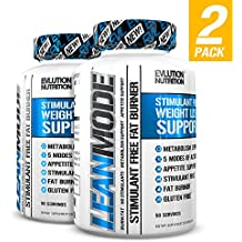 Evlution Nutrition Lean Mode Stimulant-Free Weight Loss Support with Garcinia Cambogia, CLA and Green Tea Leaf extract (2-Pack)