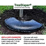 water ring - Smart Tree Watering Bag - AUTO REFILLS WITH RAIN and Slow Releases As Plant Needs - New Water Absorption Slow Release Technology Prevents Over and Under Watering - Large Tree Diaper 36