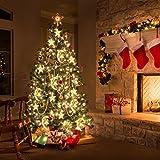 Tencoz 138 LED Star Curtain Lights, Window Curtain