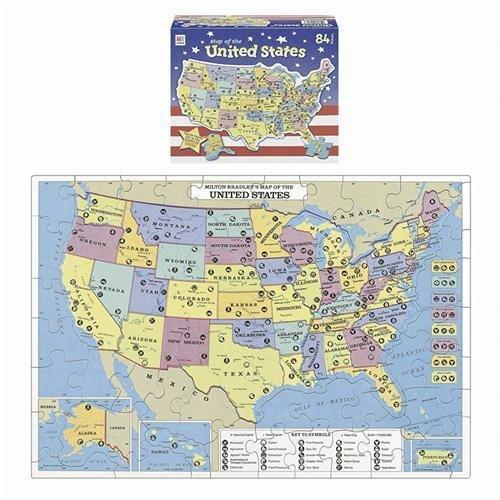 us puzzle map 9780871065667 amazoncom books