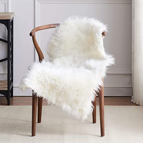 Tremendous Leevan Faux Sheepskin Fur Rug Fluffy Chair Couch Cover Shaggy Throw White Fur Are Rugs For Bedroom Sofa Living Room Floor Mat Carepet 2 Ft X 3 Ft Pdpeps Interior Chair Design Pdpepsorg