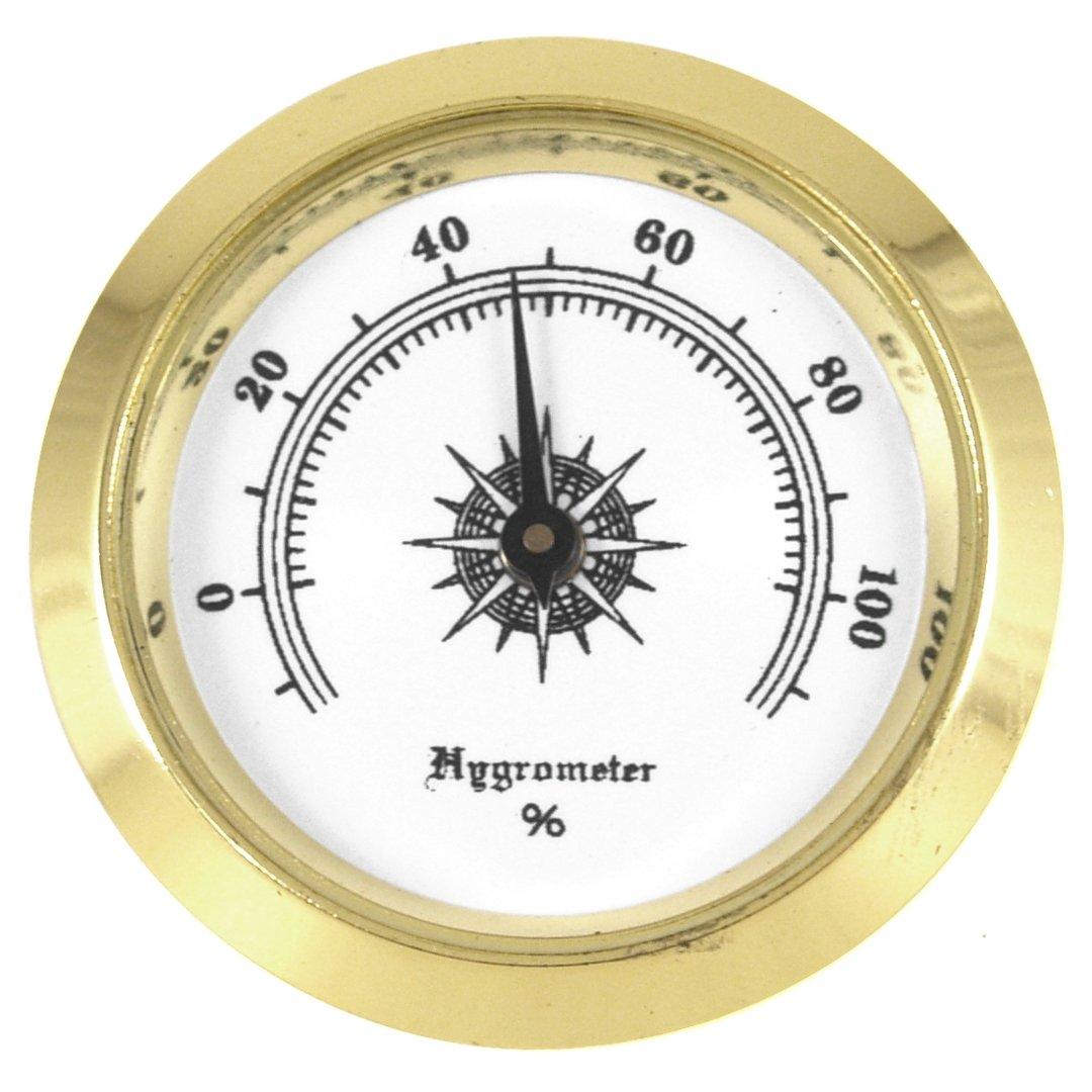 Small #2 Round Analog Hygrometer Humidity Gauge Humidor