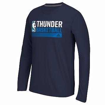 Adidas Oklahoma City Thunder NBA Azul Marino Condición de Icono Climalite Performance Camiseta de Manga Larga para Hombre, L, Azul Marino: Amazon.es: ...
