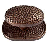 The Copper Factory CF107AN Solid Cast Copper Large Oval Backplate, Antique Copper