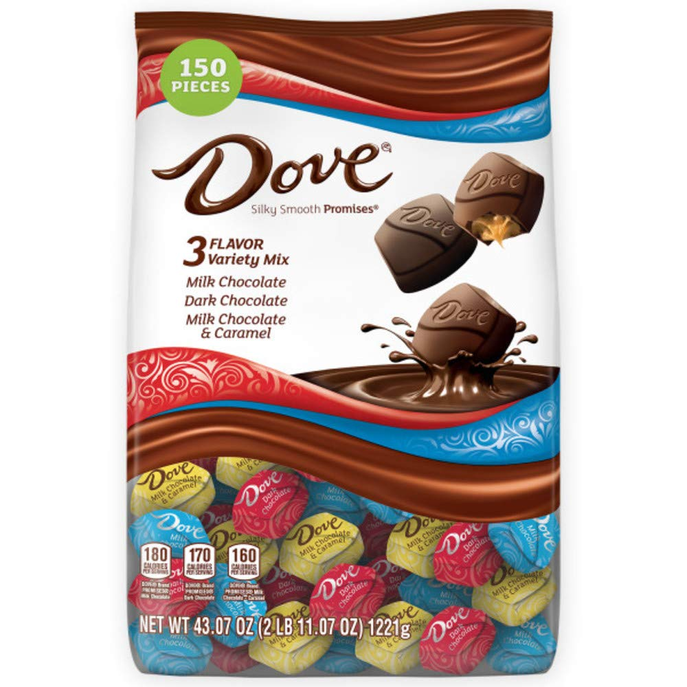 B01965DYYS DOVE PROMISES Chocolate Candy Variety Mix, Great For Easter Gift Baskets, 43.07-Ounce Bag 150 Pieces 61m9vAesQKL