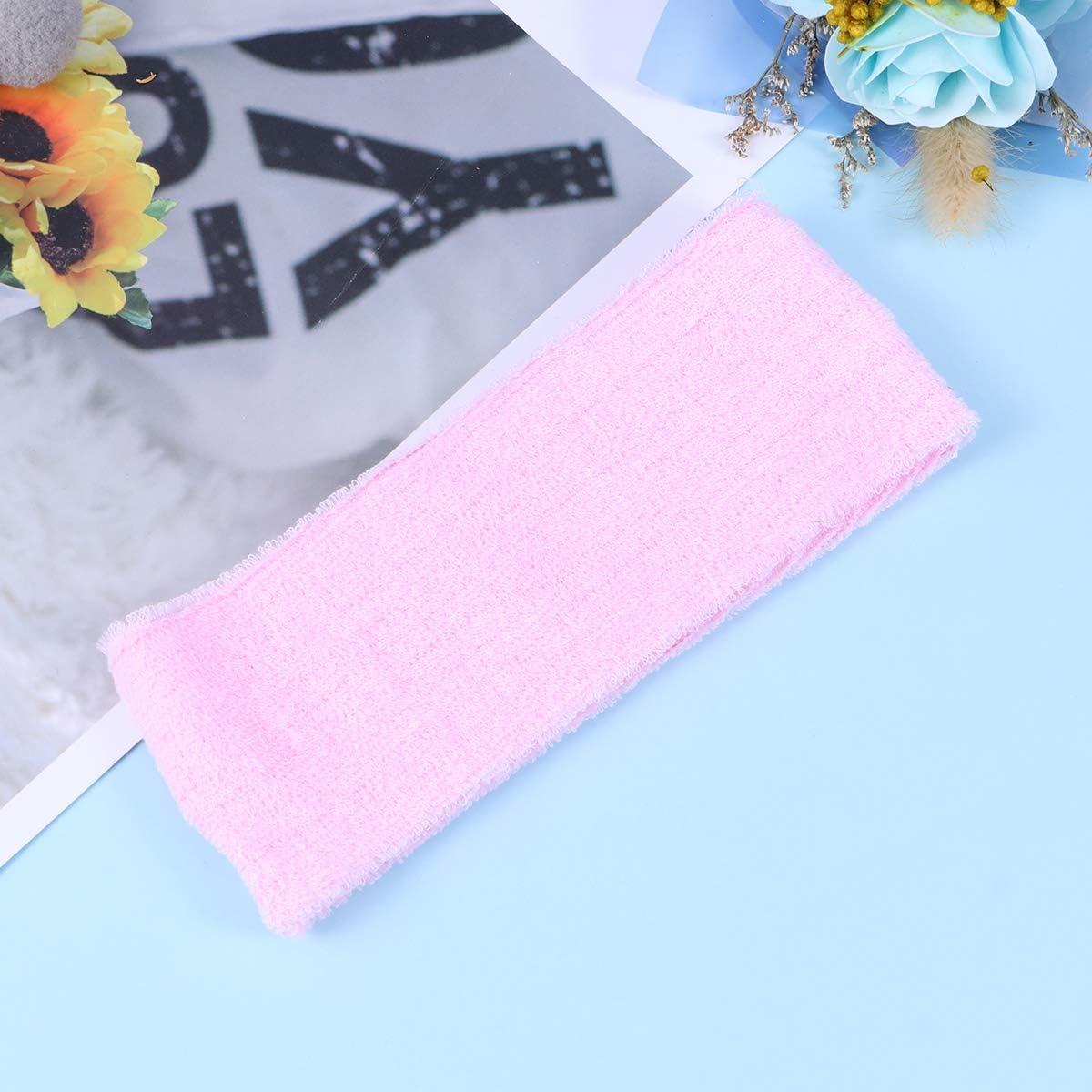Rose LIOOBO Bandeaux Sportifs en Molleton de Yoga pour Le Visage Bandeau pour Le Visage Maquillage Wrap Head Bandeau en Tissu /éponge Serviette r/églable