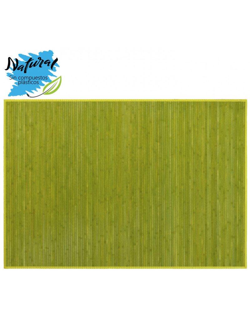 Hogar y Mas Alfombra DE Bambu Antideslizante para Salon -C Comedor EN Color Verde, 140 X 200 CM.