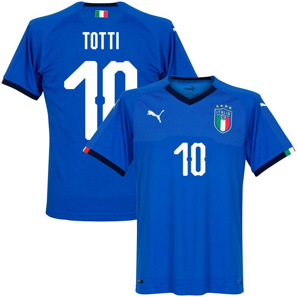 Italien Home Trikot 2018 2019 + Totti 10 (Fan Style)