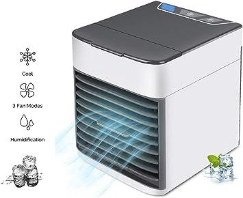 HHH Aire Acondicionado Portátil Mini Purificador y Enfriador de Aire Humidificador y Ventilador Multifuncional y Luz Nocturna para Enfriar Rápidamente el Escritorio Air Cooler: Amazon.es: Deportes y aire libre