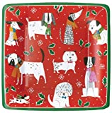 Christmas Paper Plates Dessert Plates Christmas Party Holiday Party Christmas Dogs 7.25'' Pk 16