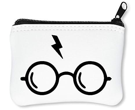 Minimalistic Harry Potter Glasses Scar Graphic Billetera con ...