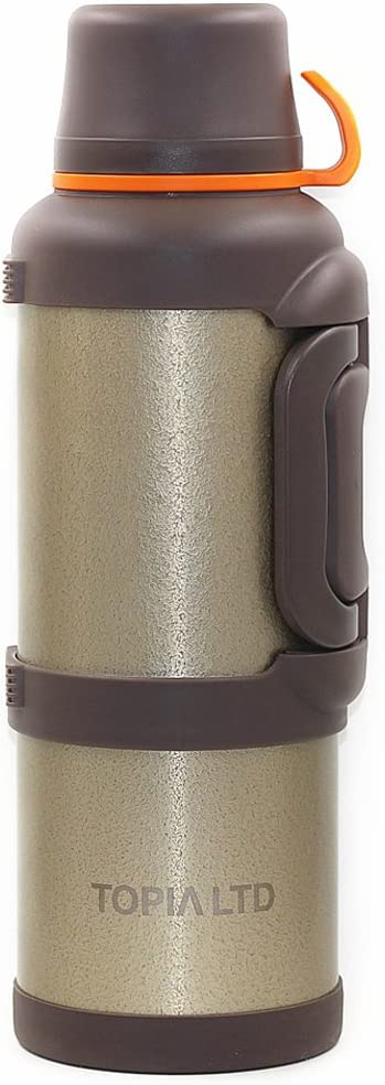 1 Gallon Vacuum Insulated Steel Thermos, Hot & Cold, 128oz, by TOPIA LTD