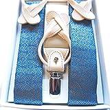 Men's Lady's Brocade Japanese Pattern Suspenders Unisex (1.3× 36-51 inch) NISHIJIN (Konmuji)