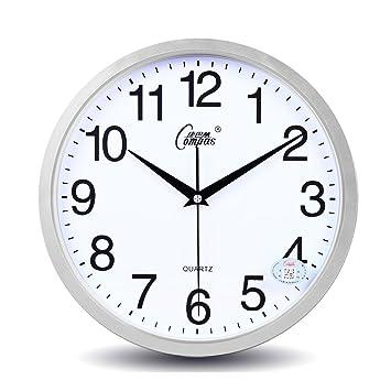 Amazon De Wohnzimmer Stumm Wanduhr Einfache Uhr Buro Schlafzimmer