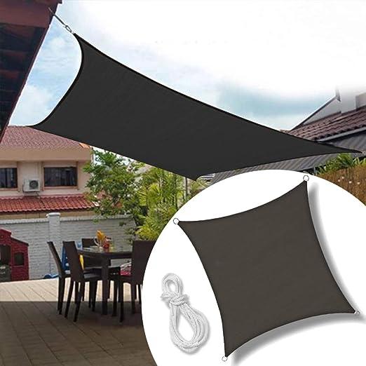 Froadp 3x3m Vela de Sombra Cuadrado Red de Sombreo Protección Rayos UV para Patio Exteriores Terraza Jardín(Antracita): Amazon.es: Jardín