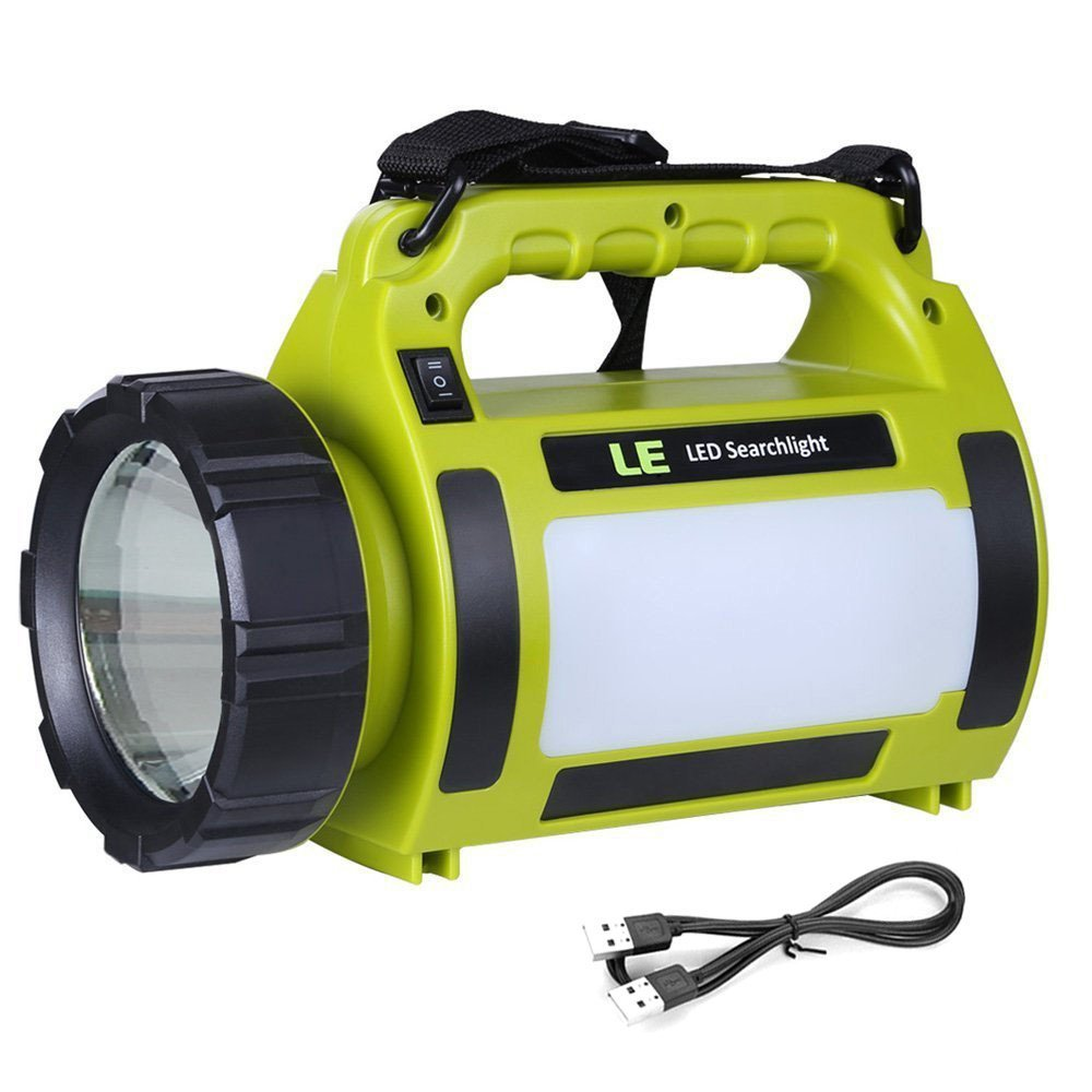 le 1000lm rechargeable outdoor led spotlight 10w cree t6