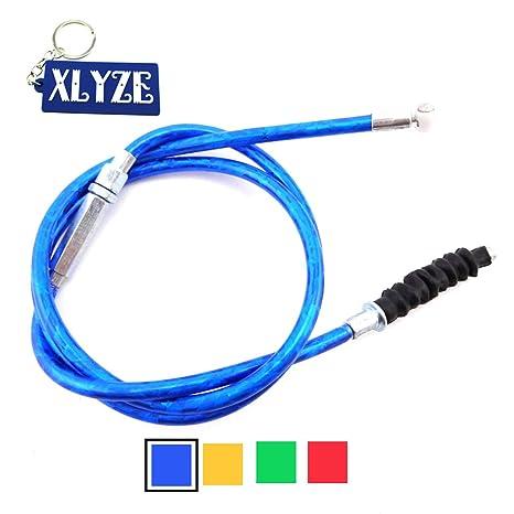 XLYZE Cable de embrague azul para 50cc 70cc 90cc 110cc 125cc 140cc 150cc 160cc CRF KLX