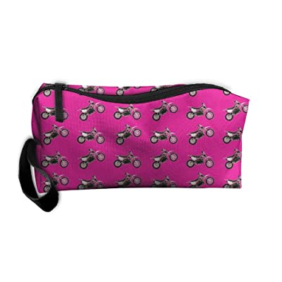 Portable Dirt Bikes Receiving Package Makeup Bag Pencil Pen Case Makeup Bag Set For Unisex