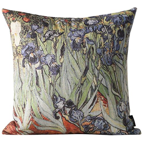 Van Gogh Iris (yepmax Burlap Decorative Throw Pillows Cover 18 Inch Van Gogh Iris)