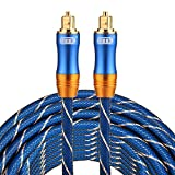 Optical Cables, EMK LSYJ-A 10m OD6.0mm Gold Plated Metal Head Toslink Male to Male Digital Optical Audio Cable