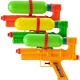 "Bedwina Water Guns (Pack of 6 Bulk) Squirt Gun and Water Guns for Kids and Adults - 10"" Water Tank Squirter Birthday Party Fa"