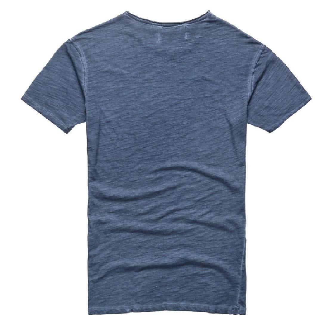 Zimaes-Men Short-Sleeve Comfort Solid Casual Crew-Neck Simple Tee Tshirt